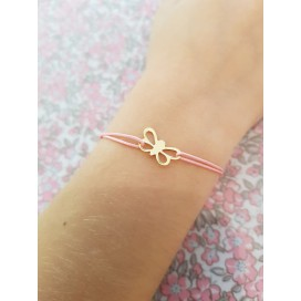 Bracelet cordon papillon enfant