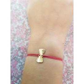 Bracelet cordon noeud papillon enfant