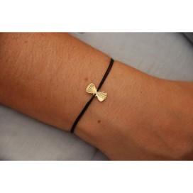 Bracelet cordon noeud papillon