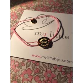 Bracelet cordon Fleur