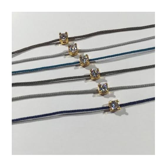 Bracelet cordon strass griffe