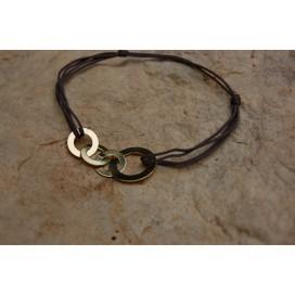Bracelet Disques 2 Cordons