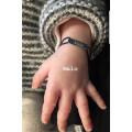 Bracelet cordon plaque gravé