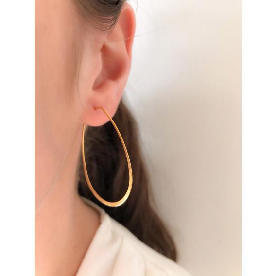Boucles d'oreille Créole Ovale fine