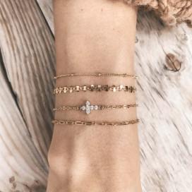 Bracelet chaine croix strass
