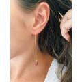 Boule d'oreille Lisa chaine pierre naturelle