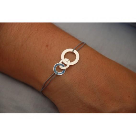 Bracelet cordon disques