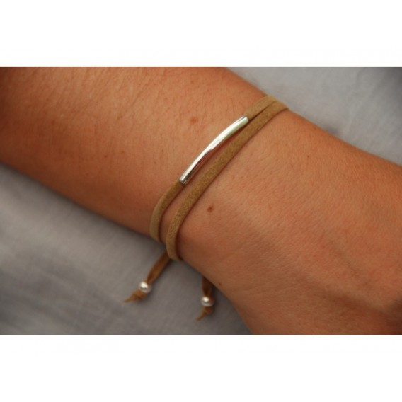 Bracelet suedine Tube