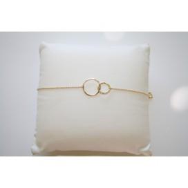 Bracelet chaine double cercle