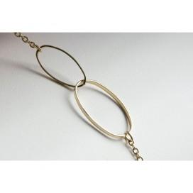 Bracelet Chaine Double Ovale
