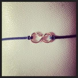Bracelet cordon L'Infini
