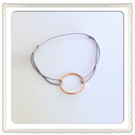 Bracelet Cordon Cercle or Rose