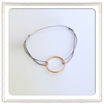 Bracelet Cordon Cercle or Rose