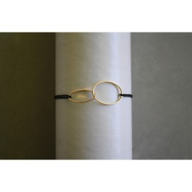 Bracelet Cordon Double Ovale