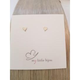 Boucles d'oreille mini coeur