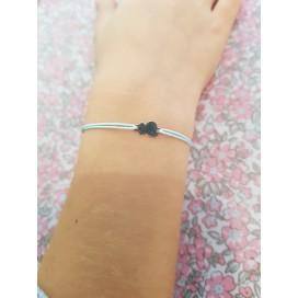 Bracelet cordon mini nuage argent enfant